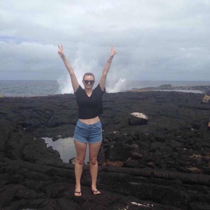 Amber G in Samoa